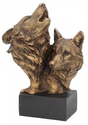 Photo of Wolf Bust Bronze Finish