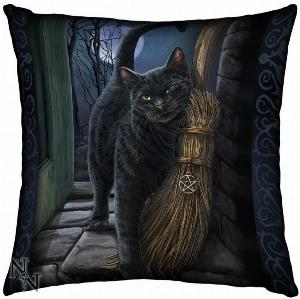 Photo of A Brush With Magick Witch Cat Cushion (Lisa Parker) 42cm