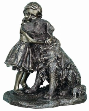 Photo of A Girls Best Friend Bronze Dog Figurine 22cm
