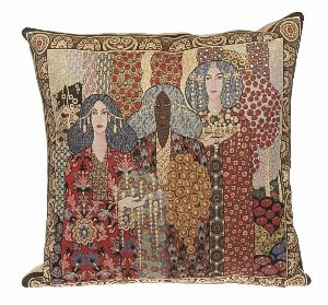 Phot of Aladin By Gustav Klimt Tapestry Cushion I