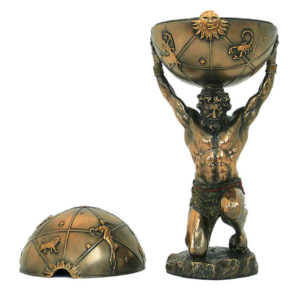 Photo of Atlas Bronze Figurine and Trinket Box 32 cm