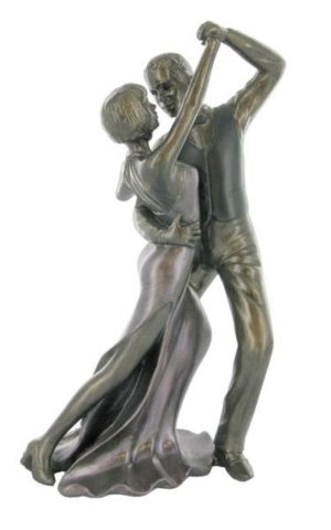 Photo of Ballroom Dancing Painted Cold Cast Bronze Sculpture
