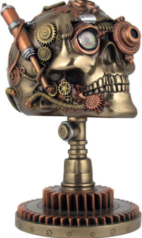 Photo of Bionic Ocular Receiver Skull Bronze Figurine