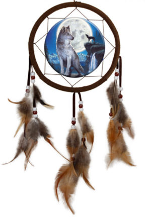 Photo of Blue Moon Wolf Dream Catcher