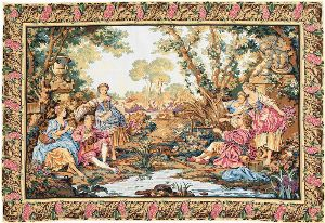 Phot of Boucher Hunting And Fishing Wall Tapestry