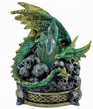 Photo of Crystal Crypt Green Dragon Figurine (Alator) Light Feature