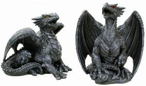 Photo of Dark Dragon Figurines (Set of 2) 10cm
