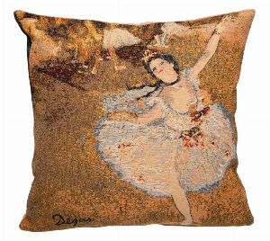 Phot of Edgar Degas Dance Tapestry Cushion