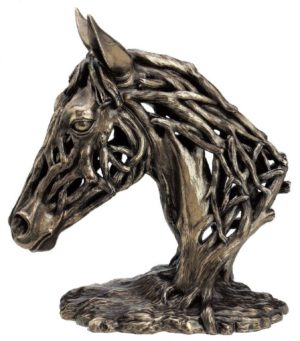 Photo of Endurance Horse Head Contemporary Bronze Figurine Large 35 cm