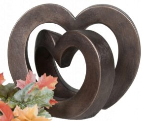 Photo of Enduring Love Contemporary Bronze Sculpture (Adrian Tinsley) 24cm