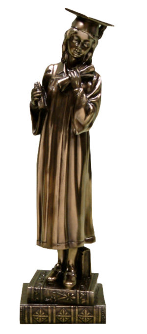 Photo of Female Graduation Bronze Figurine (Juliana)