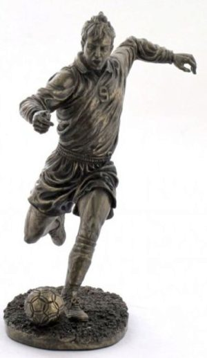 Photo of Footballer Bronze Figurine
