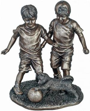 Photo of Footballers Bronze Figurine