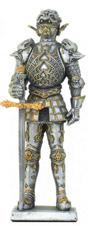 Photo of French Knight with Great Sword Pewter Figurine