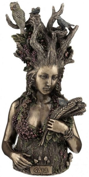 Photo of Gaia Bronze Figurine 26cm