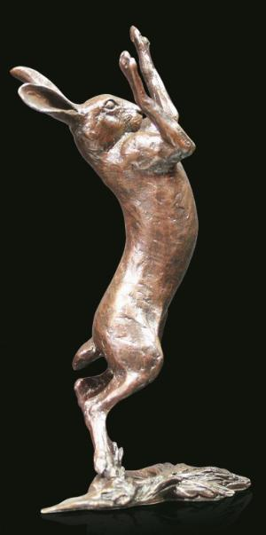 Photo of Hare Boxing Bronze Figurine (Limited Edition) Michael Simpson 16.5cm