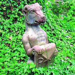 Photo of Heraldic Dragon Stone Statue