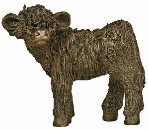 Photo of Highland Calf Standing Bronze Sculpture