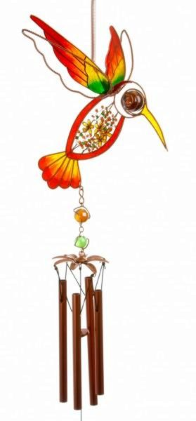 Photo of Humming Bird Wind Chime (Red and Yellow)