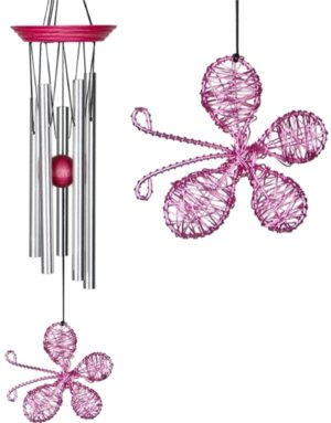Photo of Isabelles Dancing Butterfly - Pink Wind Chime (Woodstock)
