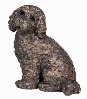 Photo of Jasper the Cockapoo Sitting Bronze Sculpture (Frith) 14 cm