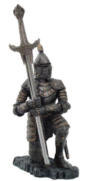 Photo of Kneeling Knight Letter Opener Holder (Letter Opener sword included)