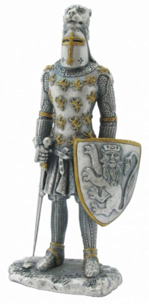 Photo of Knight with Lion Helm Pewter Figurine