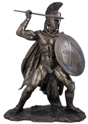 Photo of Leonidas King of Sparta Bronze Figurine Extra Large 52cm