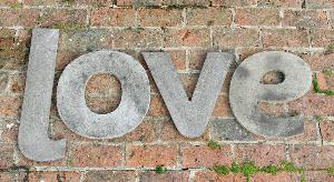 Photo of LOVE Wall Plaque (Set of Four Large Stone Letters)