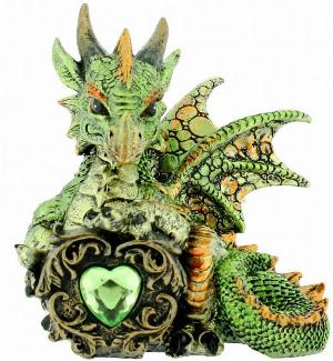 Photo of Malachite Green Dragon Figurine (Alator)