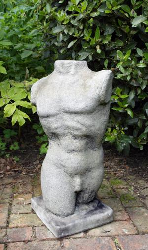 Photo of Male Torso Adam Nude Stone Statue 71 cm