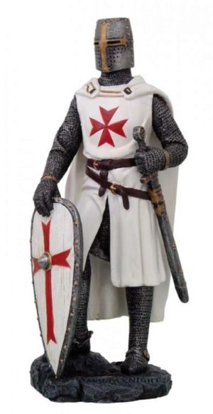 Photo of Maltese Knight with White Shield Figurine