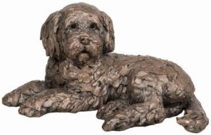 Photo of Oscar the Cockapoo Bronze Sculpture (Frith) 20 cm