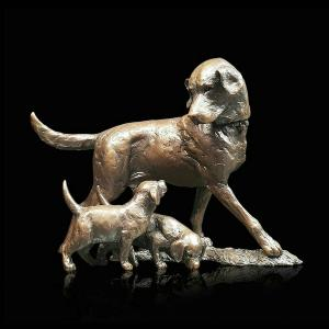 Photo of Patience Labrador Bronze Figurine (Limited Edition) Michael Simpson