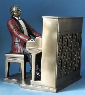 Photo of Piano Player Jazz Bronze Figurine 22.5cm