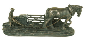 Photo of Ploughman Bronze Ornament 43cm