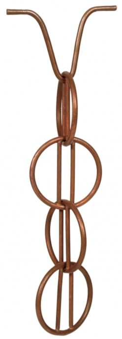 Photo of Rain Chain Ohm Copper Garden Ornament