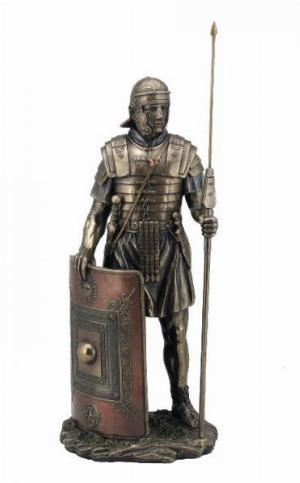 Photo of Roman Soldier Legionaire Bronze Figurine 36 cm