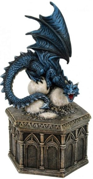 Photo of Roost of Cryondrix Figurine Blue Dragon Box 24cm