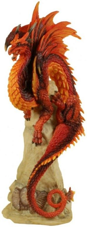 Photo of Ruby Sentinel Dragon Figurine (Andrew Bill) 27 cm