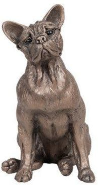 Photo of Sadie French Bulldog Dog Sitting Bronze Sculpture Harriet Dunn 20 cm