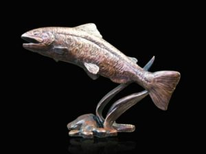 Photo of Salmon Bronze Figurine (Limited Edition) Michael Simpson
