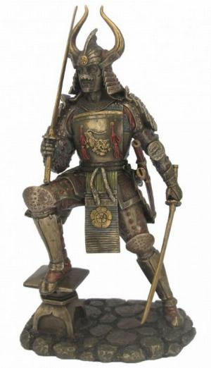 Photo of Samurai in Full Armour Bronze Figurine