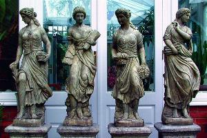 Photo of Set of 4 Maidens Stone Statues (Seasons)