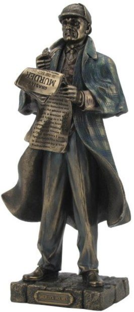 Photo of Sherlock Holmes Bronze Figurine 28cm