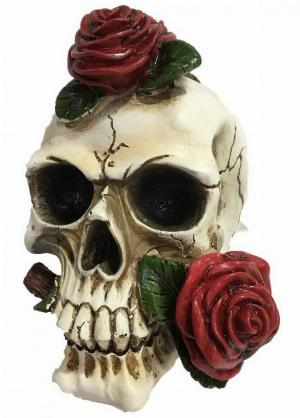 Photo of Skull and Roses Ornament 20 cm Large