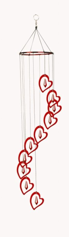 Photo of Spiral Sparklers Heart Suncatcher Windchime (31.5 inches long)