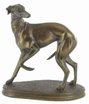 Photo of Standing Whippet Bronze Sculpture