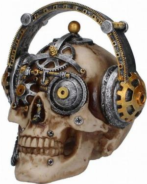 Photo of Techno Talk Steampunk Skull Ornament Small
