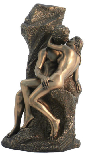 Photo of The Kiss by Rodin Bronze Figurine 30 cm